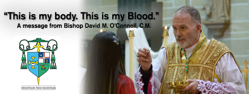 A message from Bishop O'Connell: 'This is my Body. This is my Blood.'