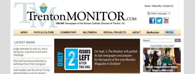 On Aug. 21, The Monitor went live with its newly redesigned website – TrentonMonitor.com. The new design will afford users a more simplified and streamlined approach to accessing content, and provides for greater integration of photos, videos and slideshows in posted stories, according to Rayanne Bennett, associate publisher.