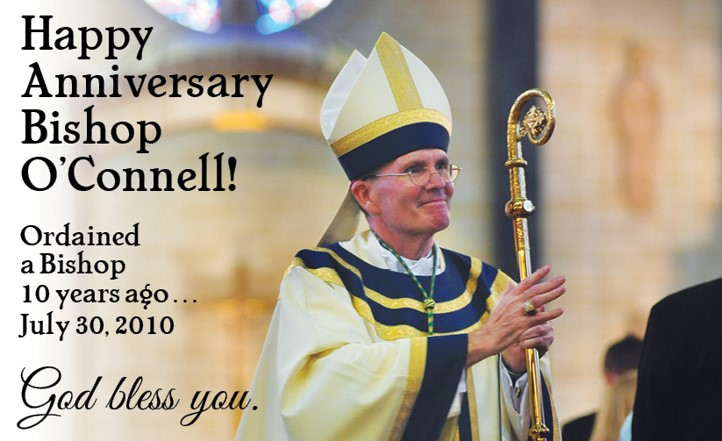 Diocese celebrates 10th anniversary of Bishop O'Connell's ordination