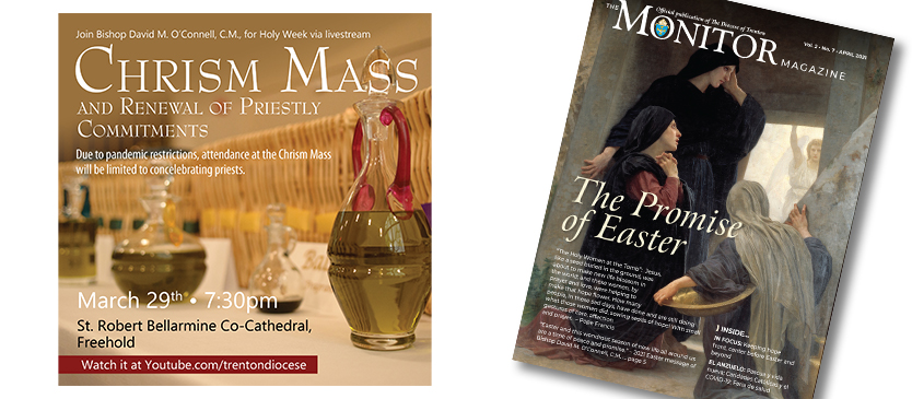 Chrism Mass livestream • In the April issue of the Monitor Magazine