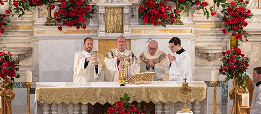 Bishop O'Connell celebrates mass for the Feast of St. Rita